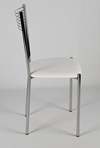 Set 4 sedie per cucina e sala da pranzo moderne con for Set sedie cucina