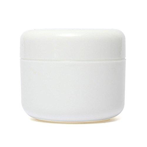 Furnido 12 pcs 50 g Portable Pot Cosmétique Maquillage Fard à paupières de voyage Crème pour le visage Lotion Plastique échantillon Bouteille contenant à couvercle vide Maquillage rechargeables Pots de crème