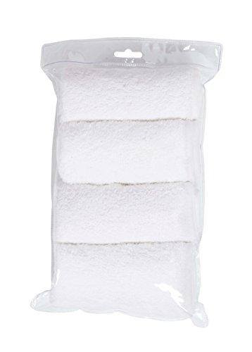 Cándide Funda de Toalla para Colchón Cambiador, blanco, paquete de 4