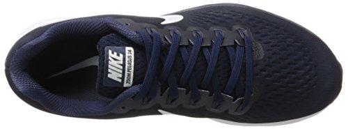 Nike Air Zoom Pegasus 34, Scarpe da Running Uomo Blu (Obsidian/white-neutral Indigo-blue Recall)