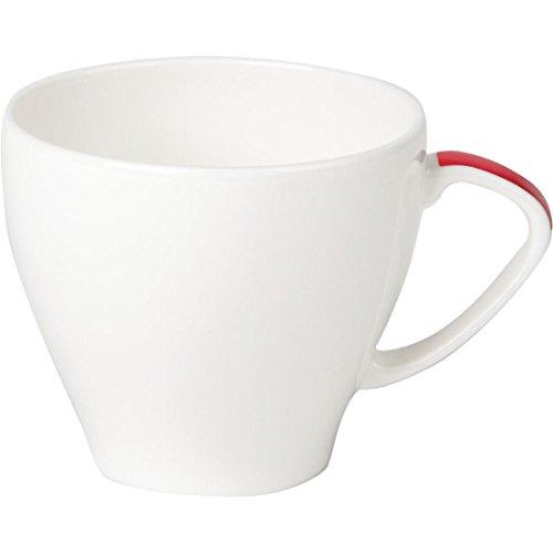 Royale de porcelaine de Maxadura Bord Rouge Handled Capacité Cup: 7 oz / 200ml. Quantité, boite: 12.