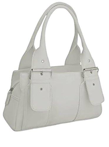 EyeCatchBags - Brittany Damen Handtasche aus Kunstleder Weiß