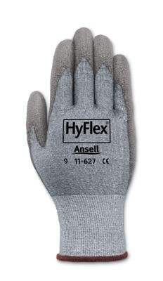 Ansell Size 7 HyFlex Light Duty Cut Resistant Gray Polyurethane Palm Coated Work Glove With Gray DSM Dyneema And Lycra Liner And Knit Wrist by Ansell