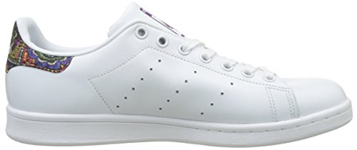 adidas  Stan Smith, Sneakers basses femme Blanc (Footwear White/Footwear White/Mid Grey)