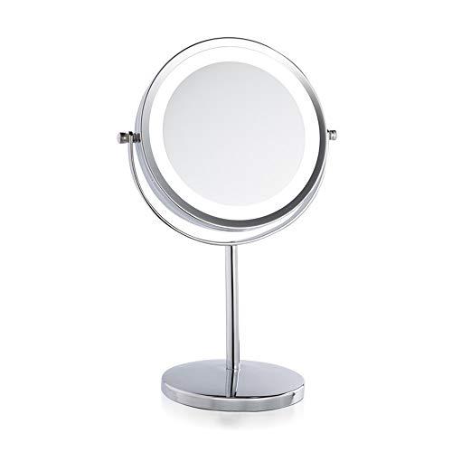 Wig girl Vanity Schminkspiegel 7in 3X Vergrößerung Freistehend Kleine Plattform Swivel Rasur 360 Rotation Countertop Kosmetikspiegel Girls Plattform