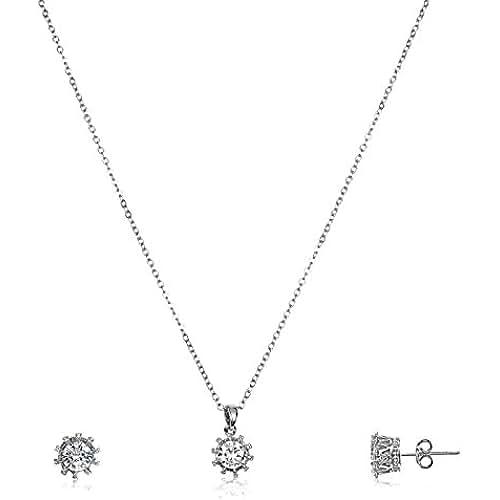 ofertas para el dia de la madre Fashionvictime - Mujer Parure - Moderne - Argento Rodiado - Cubic Zirconium (Cz ) - Joyeria Sin Tiempo -