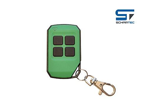 Universal Handsender 433,92 MHz in 4 verschiedenen Farben von Schartec - Funk Fernbedienung 433 MHz - Garagentoröffner 433.92 MHz für Garagentorantrieb (grün)