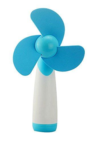 Flyproshop Pocket Mini Ultra Silent Fan Handheld Mini Candy Farbe AA Batteriebetriebene tragbare Lüfter Batteriebetriebene Kühlung Mini Fan Home und Travel Electric Persönlicher Lüfter