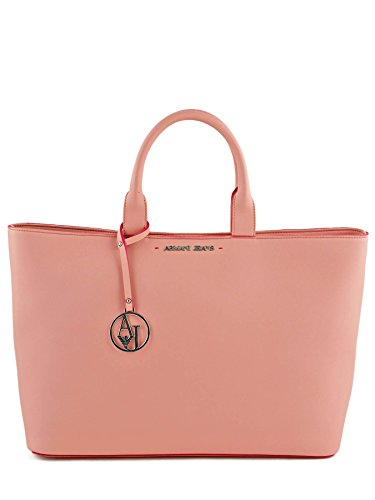 ARMANI JEANS SHOPPING bag with edge pink PZ