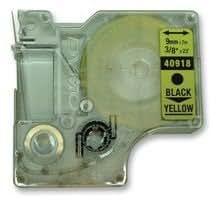 Compatible 1 rouleau Dymo D1 40918 Étiquettes (noir/jaune)