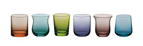 Bitossi Home MCV151 Set di 6 Liquorini Desigual, in Pasta di Vetro, Colori Assortiti