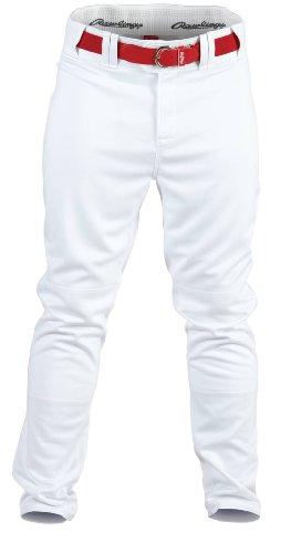 Rawlings Jugend Premium Baseball/Softball semi-Relaxed Passform Paspel Hose, Jungen Mädchen, YPRO150-W-91, weiß, XL - Premium-jugend-hosen