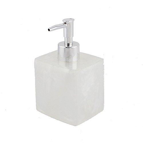 Deal Mux Résine salle de bain shampoing lotion Press bouteille à pompe Distributeur conteneur clair 400 ml Blanc