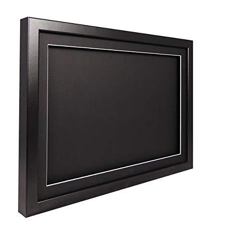 Vivarti truebox 3D Shadow Display Bilderrahmen A242x 59,4cm-Schwarz Rahmen, schwarzes Passepartout, Schwarz Rückwand