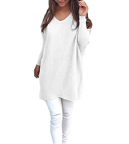 Olanstar Damen Pullover Sweater Sweatshirt Strick T-Shirt Bluse Langarm Pulli Hoodie Tops