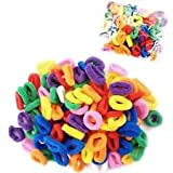 50 Pack of Girl's Hair Bobbles Bands Mini Baby Ponytail Elastic Stretchy Hairband