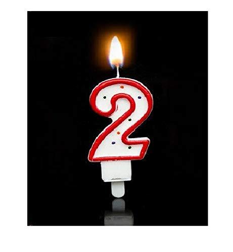 eug Lernspielzeug für Kleinkinder, kreatives digitales 0-28 Kuchenkerzen, tolle Geburtstagsfeier, Hochzeit, Party, Weihnachten, Kerze, Dekoration Rot 2 ()