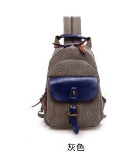 Versione coreana piccolo zaino marea donna petto spalla Baotan multi-funzione double borsa a tracolla, grigio scuro Dark grey