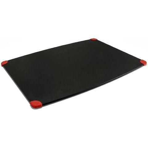 TopGourmet Gripper Series - Tabla de cortar (45 x 32,5 x 0,63 cm, madera conglomerada, bordes de silicona), color