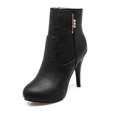 RTRY Scarpe Da Donna In Similpelle Di Moda Invernale Stivali Stivali Bootie Stiletto Heel Round Toe Stivaletti/Stivaletti Glitter Spumanti Zipper Per US4-4.5 / EU34 / UK2-2.5 / CN33