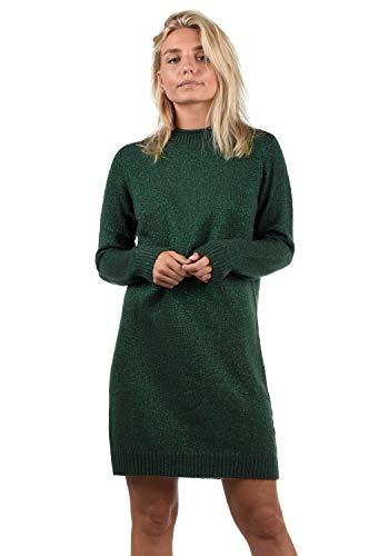 ONLY Wanja Damen Strickkleid Kleid Mit Stehkragen In Midi-Länge, Größe:L, Farbe:Scarab