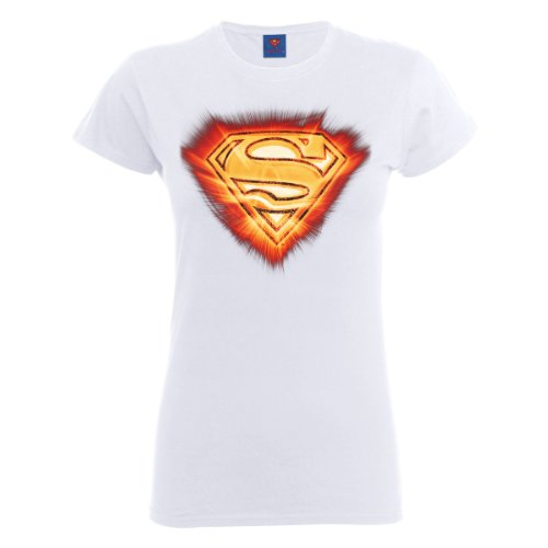 DC Universe Damen T-Shirt Dc Comics Official Superman Blast Logo Womens T- shirt