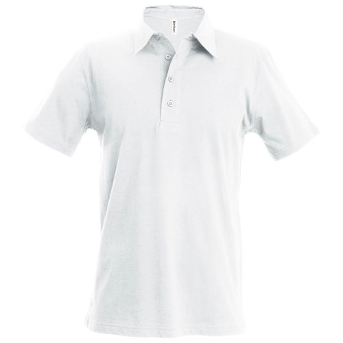 Kariban Unisex Polo Shirt Classic Jersey White