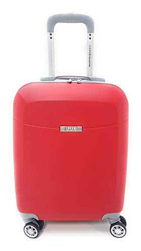 TROLLEY Coveri Collection IDONEO PRIORITY RYANAIR cm.55x40x20 ABS RIGIDO 8 RUOTE (ROSSO)