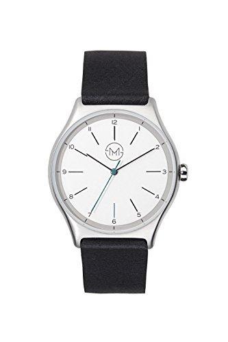 slim made one 02 - Extra Flache Uhr in Silber/schwarz