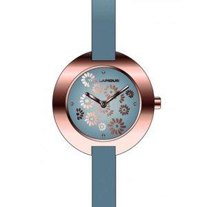 Ted Lapidus A0436UGNI - Reloj analógico de cuarzo para mujer con correa de piel, color gris