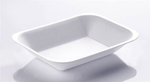 Thali Outlet - 500 x Linpac White Foam Chip Shop Trays For Takeaway Chippy Fast Food CT3 / C3 - 500pk Large Size Chip - (Large / CT3 /