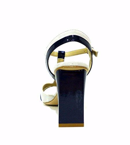 CafèNoir MLE524 Sandalen Damen Leder 548 MULTIBLU
