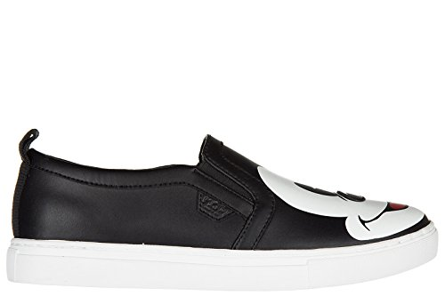 Moa Master of Arts slip on donna in pelle sneakers nuove originali action mickey mouse nero EU 38 MD39 M08B