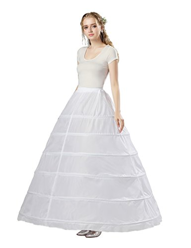 Sarahbridal Damen Ballon 6 Ringe Petticoat Reifrock fuer Brautkleid Abendkleider Ballkleid Crinoline...