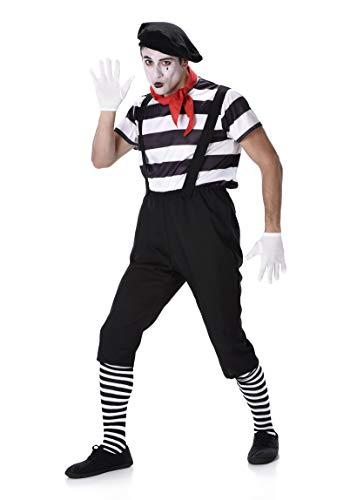 Marceau Mime Kostüm - chiber Disfraces Herren Pantomime Kostüm
