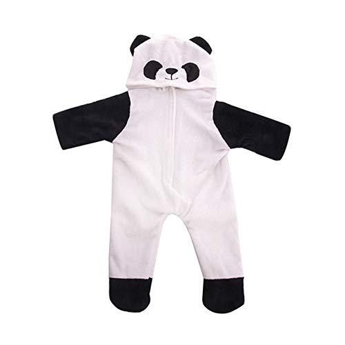 Panda Kid Kostüm - Uteruik Puppe Kleidung Panda Kostüm für 46cm American Girl Dress Onesies Outfits Zubehör, 1 Set