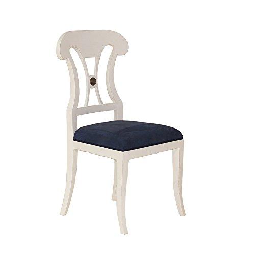Stuhl Rosetta Mahagoni weiß Landhausmöbel Stilmöbel Esszimmerstuhl Küchenstuhl