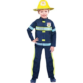 80ae33299267 Amscan New Kids Fireman Suit Boys Fancy Dress Costume Childrens Party Outfit  6-7 Yrs