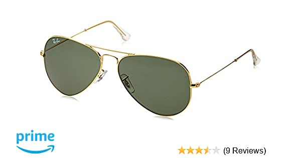 503499cf07 Ray-Ban Aviator Sunglasses (Gold) RB3025 L0205 5814  Amazon.in  Clothing    Accessories
