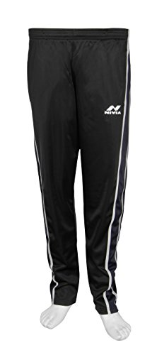 Nivia 2402-1 Polyester Lower or Track Pants, Men's XX-Large (Black/Grey/White)