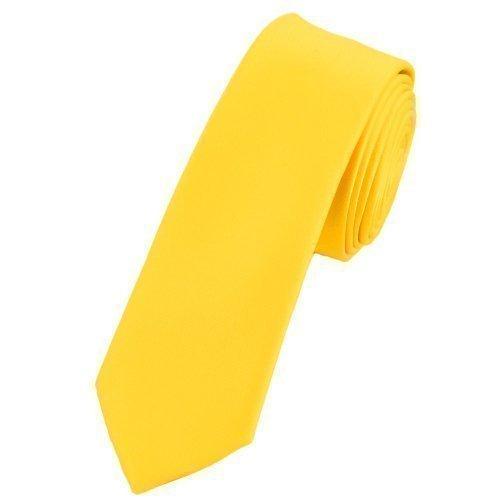 Adulti Mens Top in raso di alta qualità Skinny Vestito Sera Cravatta molti colori Canary Yellow Adulto