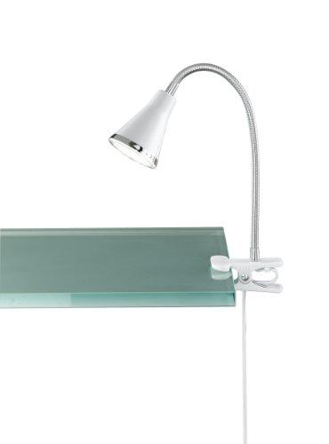 Reality Leuchten Klemmleuchte Klemmlampe LED / inklusive Flexarm und 5W SMD-LED 240 lm 3000K / Höhe-max. 45 cm, weiß R22711101