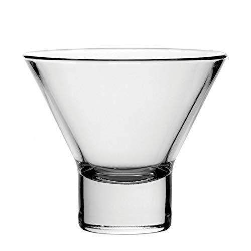Petra Martinigläser 8.5 oz / 240 ml - Set aus 12 | 24cl Cocktailgläser, Martinigläser ohne Stiel Stem Martini Glas