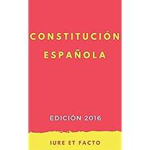 Constitución Española: 2016 (con índice) (Spanish Edition)
