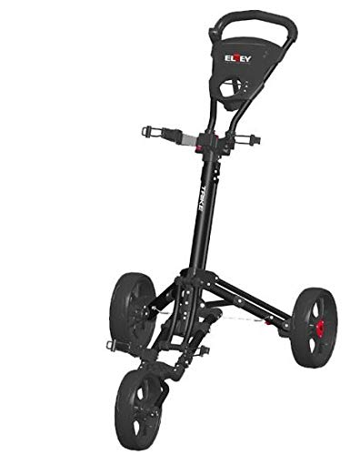 Elrey Golf Trolley 3 Rädern Zieh Cart (Black)