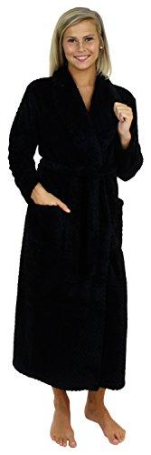 Sleepyheads vestaglia lunga da donna morbido pile, nero (sh1400-1011-eu-med)