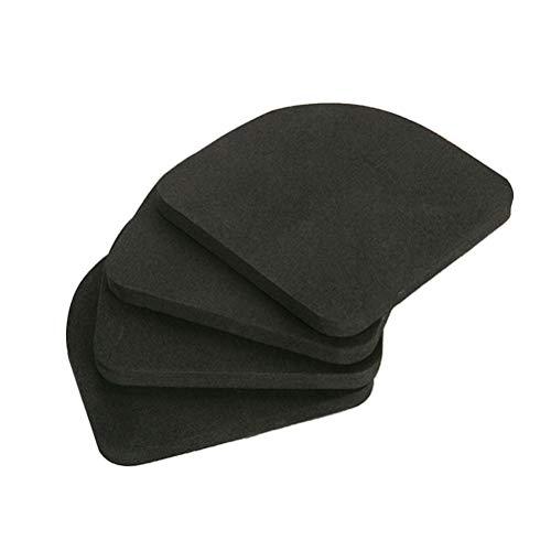 LIOOBO 4pcs Shock Absorbing Washer Pads Anti-Vibrations-Waschmaschine Mattenschutz für Waschmaschine Trockner Laufband Elektrogerät (Laufband-pad)