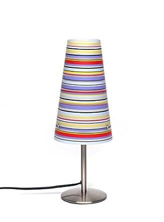 Brilliant 02747/71 Lampe à Poser ISI E14 Rayures Multicolores