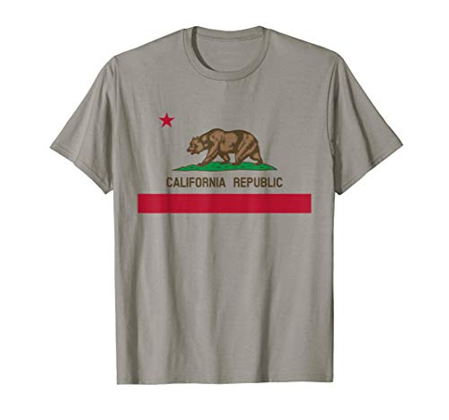 California Republic State Bear Flagge T-Shirt (Kalifornien-republik-flagge)