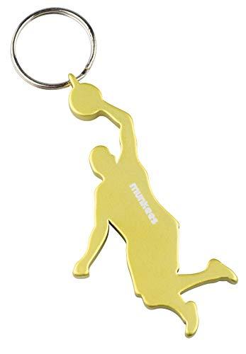 munkees Schlüsselanhänger Basketball-Anhänger Flaschenöffner SportFans, Gelb, 34912